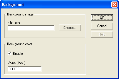 HMI Droid Studio - Background dialog box