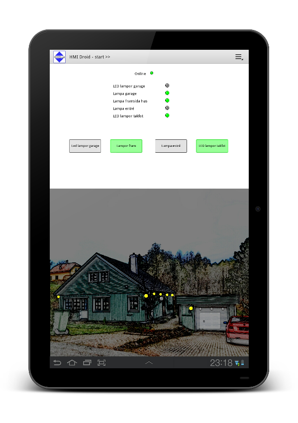 HMI Droid android home automation tablet app